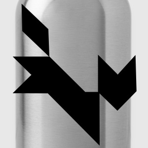 tangram fox vector T-Shirts - Water Bottle