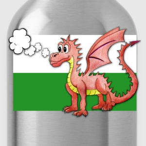 Puffing Welsh dragon - Wales - Water Bottle