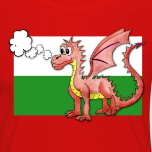 Puffing Welsh dragon - Wales - Women's Premium Longsleeve Shirt