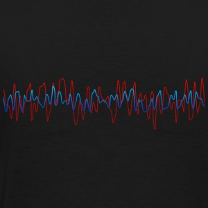 Black Sound Waves DJ Hoodies & Sweatshirts - Men's Premium T-Shirt