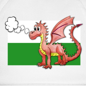 Puffing Welsh dragon - Wales - Baseball Cap