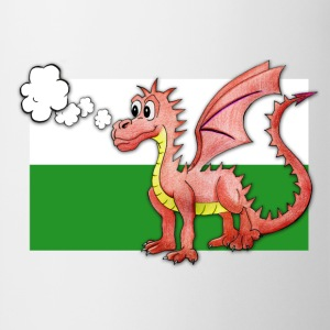 Puffing Welsh dragon - Wales - Mug