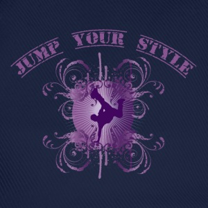 Jump your style - purple Camisetas - Gorra béisbol