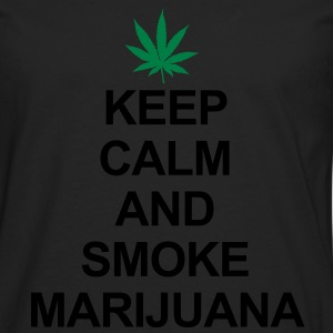 Keep Calm And Smoke Marijuana Camisetas - Camiseta de manga larga premium hombre