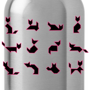 tangram_katzen vector T-Shirts - Water Bottle