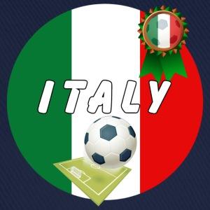 Italy Football Team pitch ball & rossete  T-Shirts - Baseball Cap