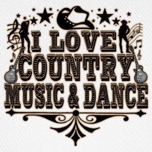 i love country music & dance Tee shirts - Casquette classique