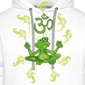 The frog sings the OM at his Yoga-Lesson T-Shirts - Men's Premium Hoodie