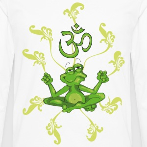 The frog sings the OM at his Yoga-Lesson T-Shirts - Men's Premium Longsleeve Shirt