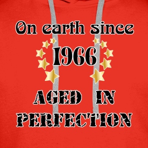 on earth since 1966 T-Shirts - Men's Premium Hoodie