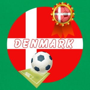 Denmark Football Team Supporter Rosette Ball & Pitch  - Retro Bag