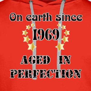 on earth since 1969 Tee shirts - Sweat-shirt à capuche Premium pour hommes