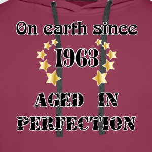 on earth since 1963 T-Shirts - Men's Premium Hoodie