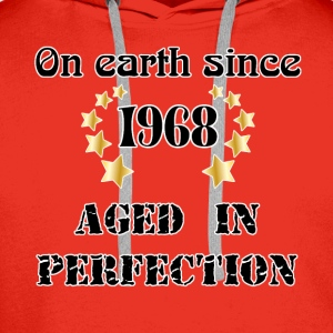 on earth since 1968 T-Shirts - Men's Premium Hoodie