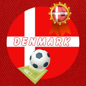Denmark Football Team Supporter Rosette Ball & Pitch  - Snapback Cap