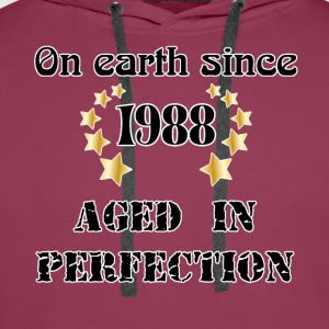 on earth since 1988 Tee shirts - Sweat-shirt à capuche Premium pour hommes