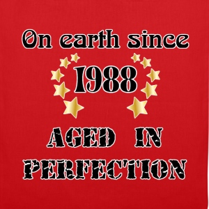 on earth since 1988 Tee shirts - Tote Bag