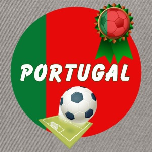 Portugal Football Team Supporter Rosette Ball & Pitch  - Snapback Cap