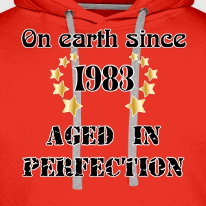 on earth since 1983 Tee shirts - Sweat-shirt à capuche Premium pour hommes