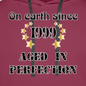 on earth since 1999 T-Shirts - Men's Premium Hoodie