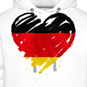 heart germany T-Shirts - Men's Premium Hoodie