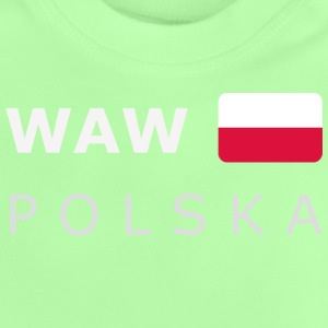Teenager T-Shirt WAW POLSKA white-lettered - Baby T-shirt