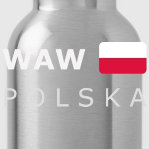 Teenager T-Shirt WAW POLSKA white-lettered - Borraccia