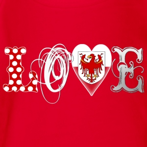 Love Suedtirol White Kinder T-Shirts - Baby Bio-Kurzarm-Body