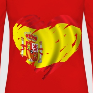 heart spain T-Shirts - Women's Premium Longsleeve Shirt