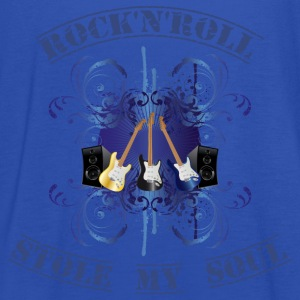 rock'n'roll stole my soul - blue T-shirts - Vrouwen tank top van Bella