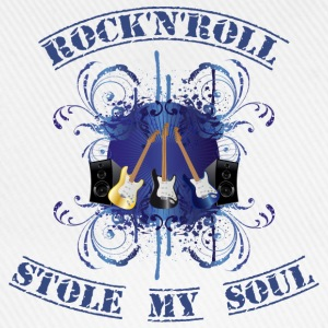 rock'n'roll stole my soul - blue T-shirts - Basebollkeps