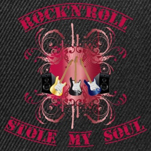 rock'n'roll stole my soul - red T-Shirts - Snapback Cap