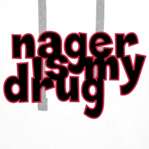 Nager is my drug ! Tee shirts - Sweat-shirt à capuche Premium pour hommes
