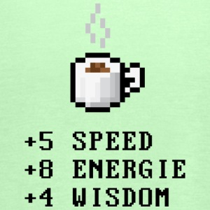 Pixelcoffee with Stats, Nerd T-Shirts - Frauen Tank Top von Bella