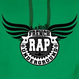 french rap underground Tee shirts - Sweat-shirt à capuche Premium pour hommes