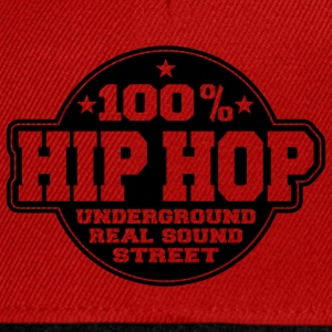 100% hip hop underground real sound street Tee shirts - Casquette snapback