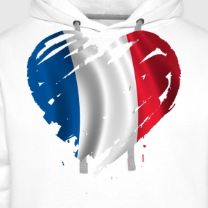 France heart T-Shirts - Men's Premium Hoodie