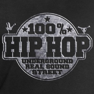 100% hip hop underground real sound street T-Shirts - Men's Sweatshirt by Stanley & Stella