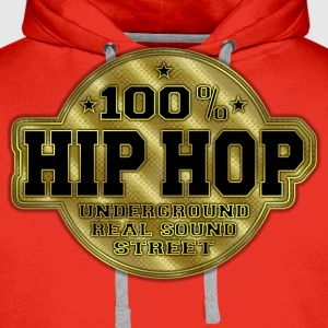 100% hip hop underground real sound street T-Shirts - Men's Premium Hoodie