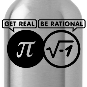 get real - be rational (1c) T-Shirts - Water Bottle