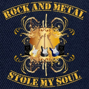 Rock and Metal stole my soul - yellow T-shirts - Snapback Cap