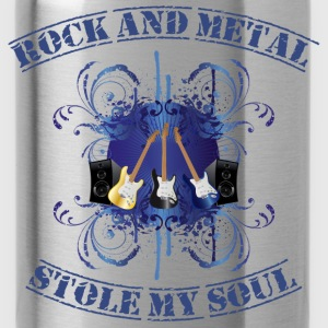Rock and Metal stole my soul - blue Camisetas - Cantimplora