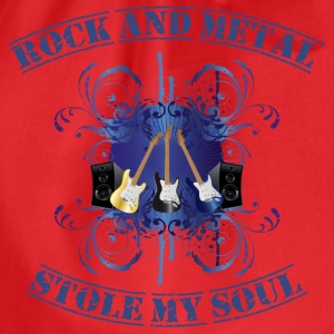 Rock and Metal stole my soul - blue T-shirts - Gymnastikpåse