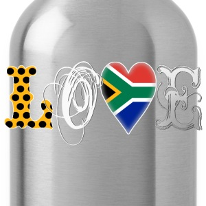 Love South Africa White T-Shirts - Water Bottle