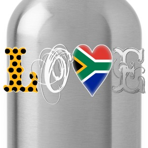 Love South Africa White Shirts - Water Bottle