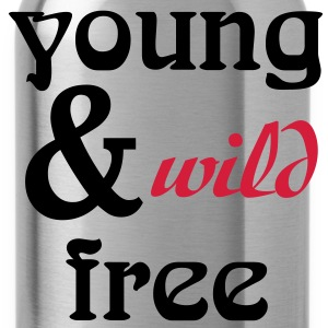 young, wild and free T-Shirts - Water Bottle