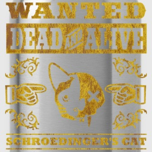 Schroedinger's cat, distressed T-Shirts - Water Bottle