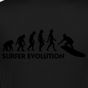 Schwarz Evolution of Surfing 3 (1c) Poloshirts - Männer Premium T-Shirt
