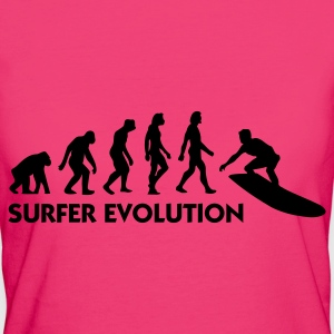 Jeans blue Evolution of Surfing 3 (1c) Bags  - Women's Organic T-shirt