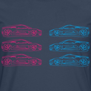Car Sketches - Men's Premium Longsleeve Shirt